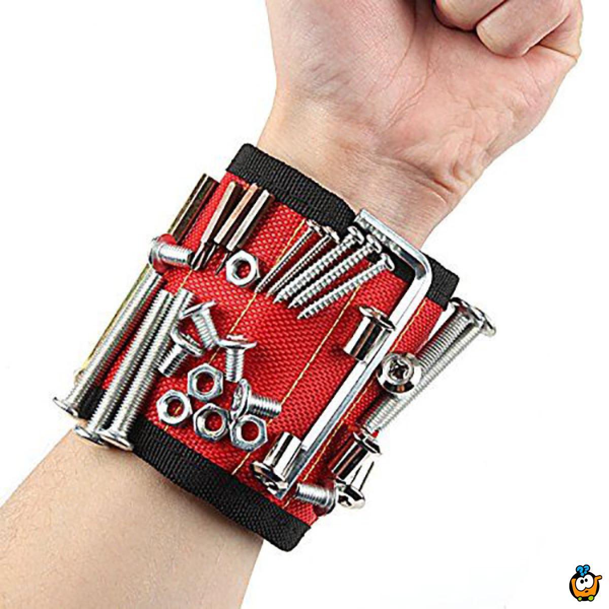 Magnetna narukvica za majstore - za sitne metalne delove nadohvat ruke