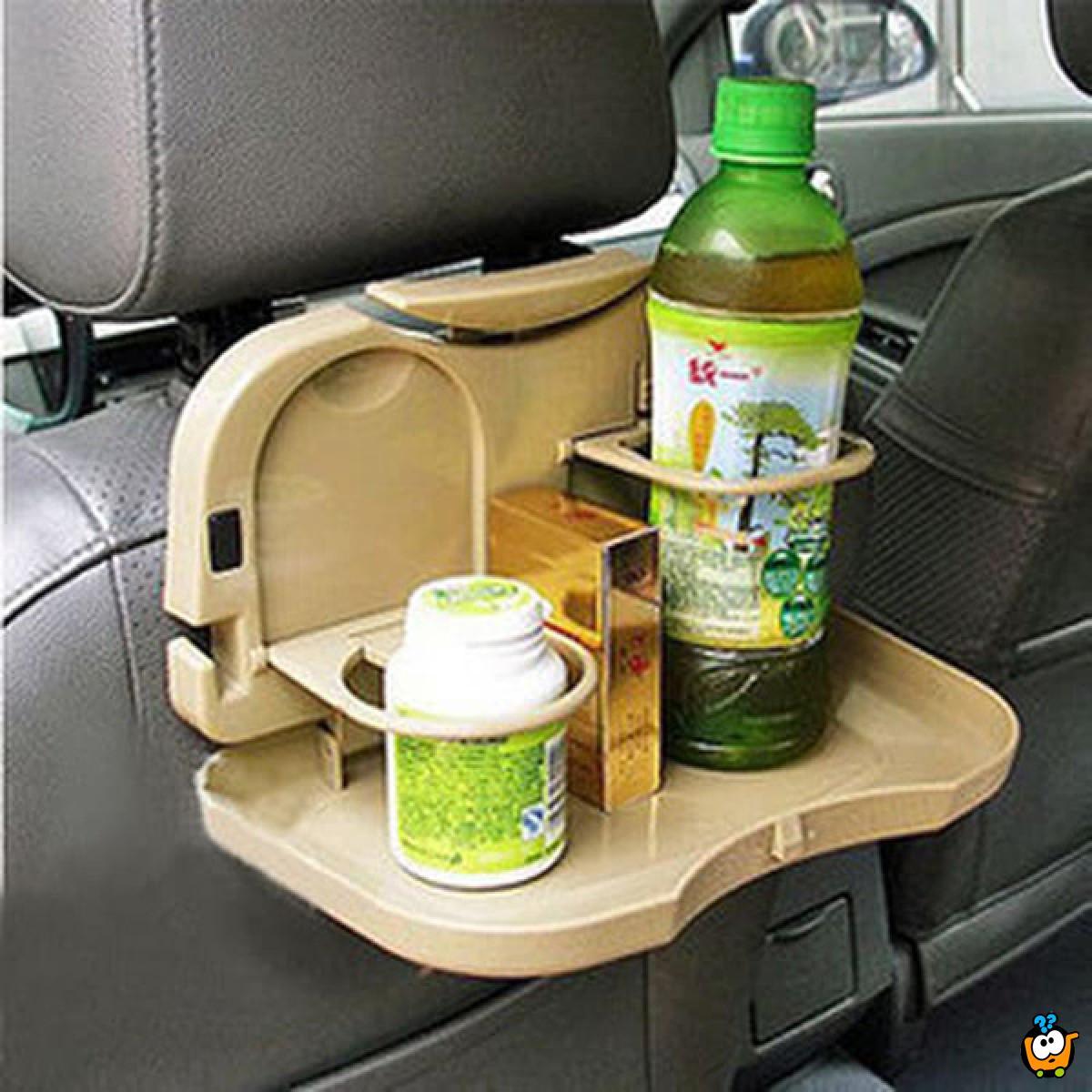 Sklopivi stočić za hranu i piće u automobilu