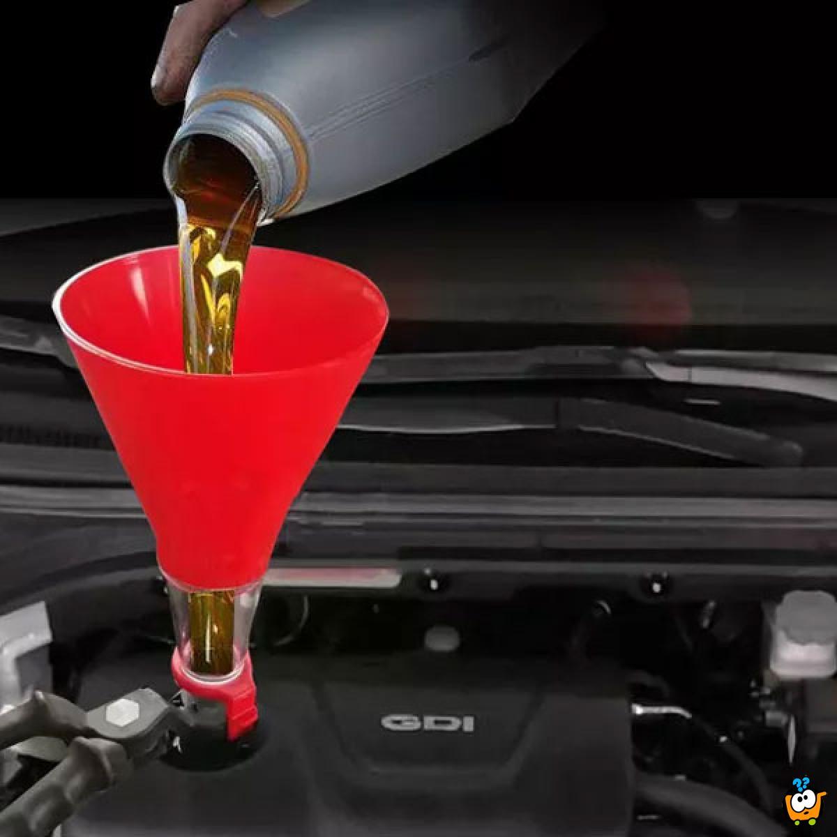 Univerzalni levak za sipanje goriva u automobil