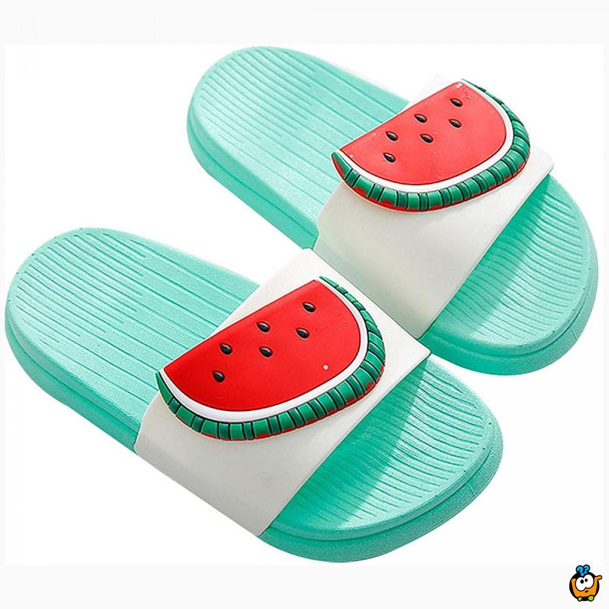 Mint papuče za decu sa dezenom lubenice