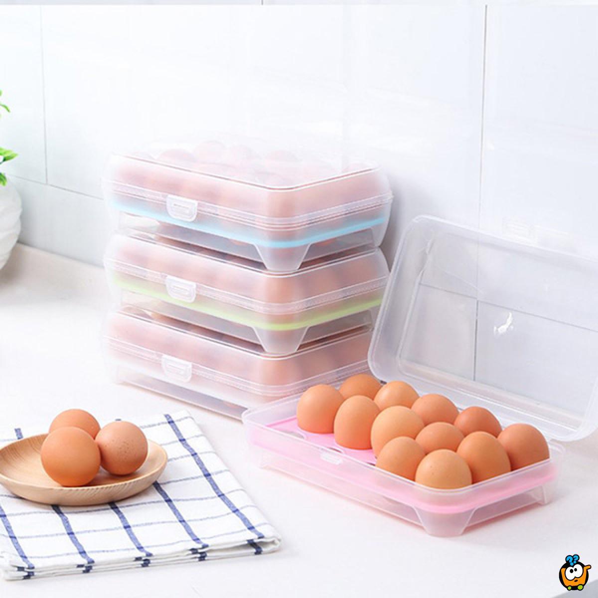 Egg box - 15 u 1 kutija za skladištenje jaja