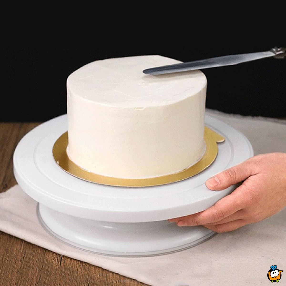 Neklizajući rotacioni stalak za torte