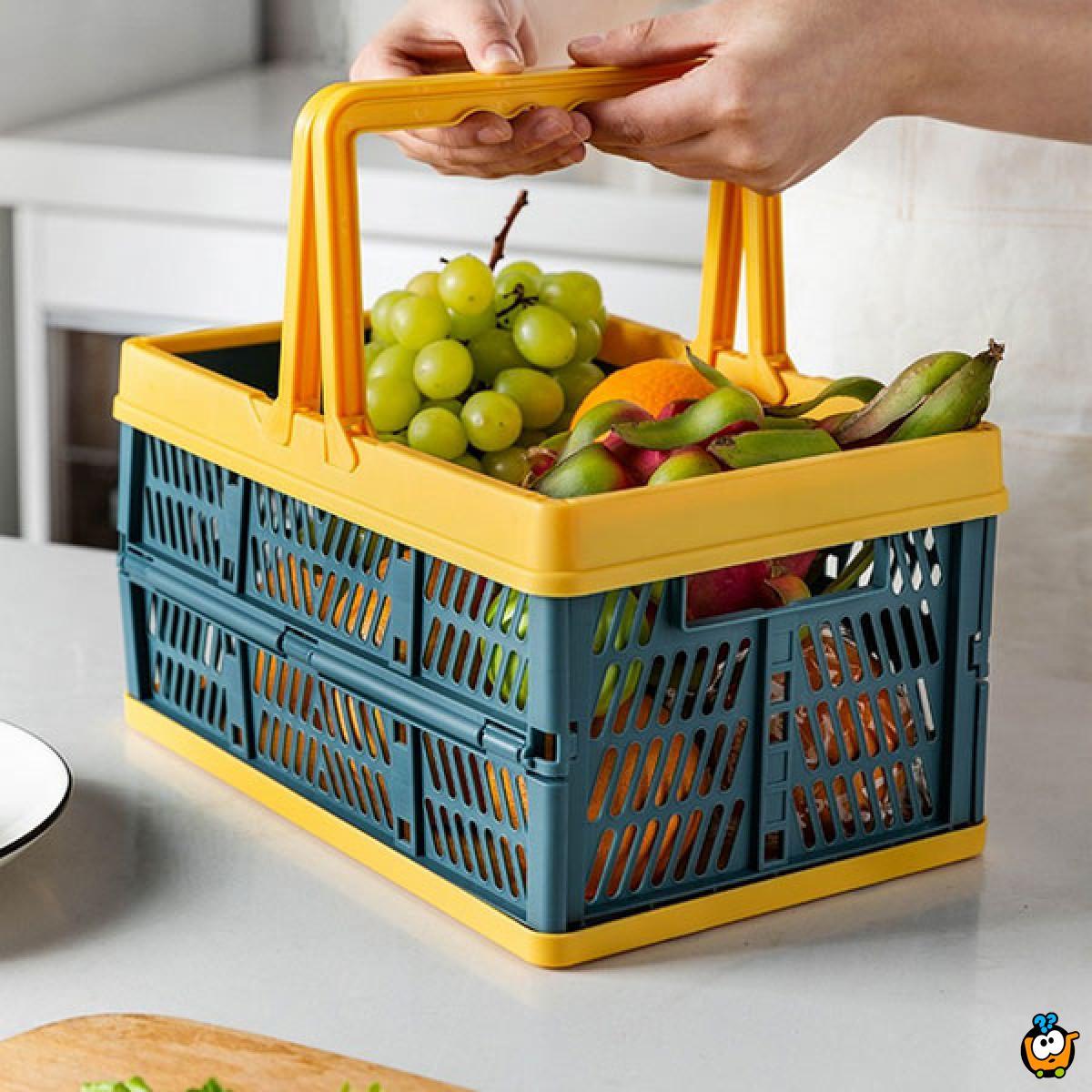 Folding basket - Čvrsta sklopiva korpa za kupovinu