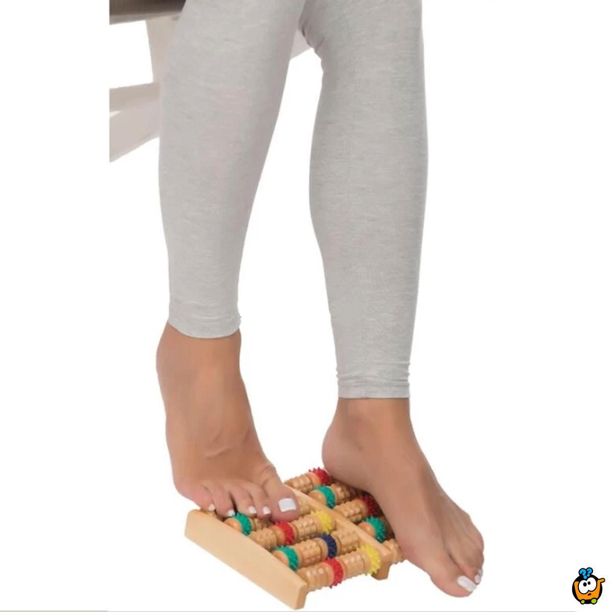 Dvostruku roler masazer za relaksaciju stopala