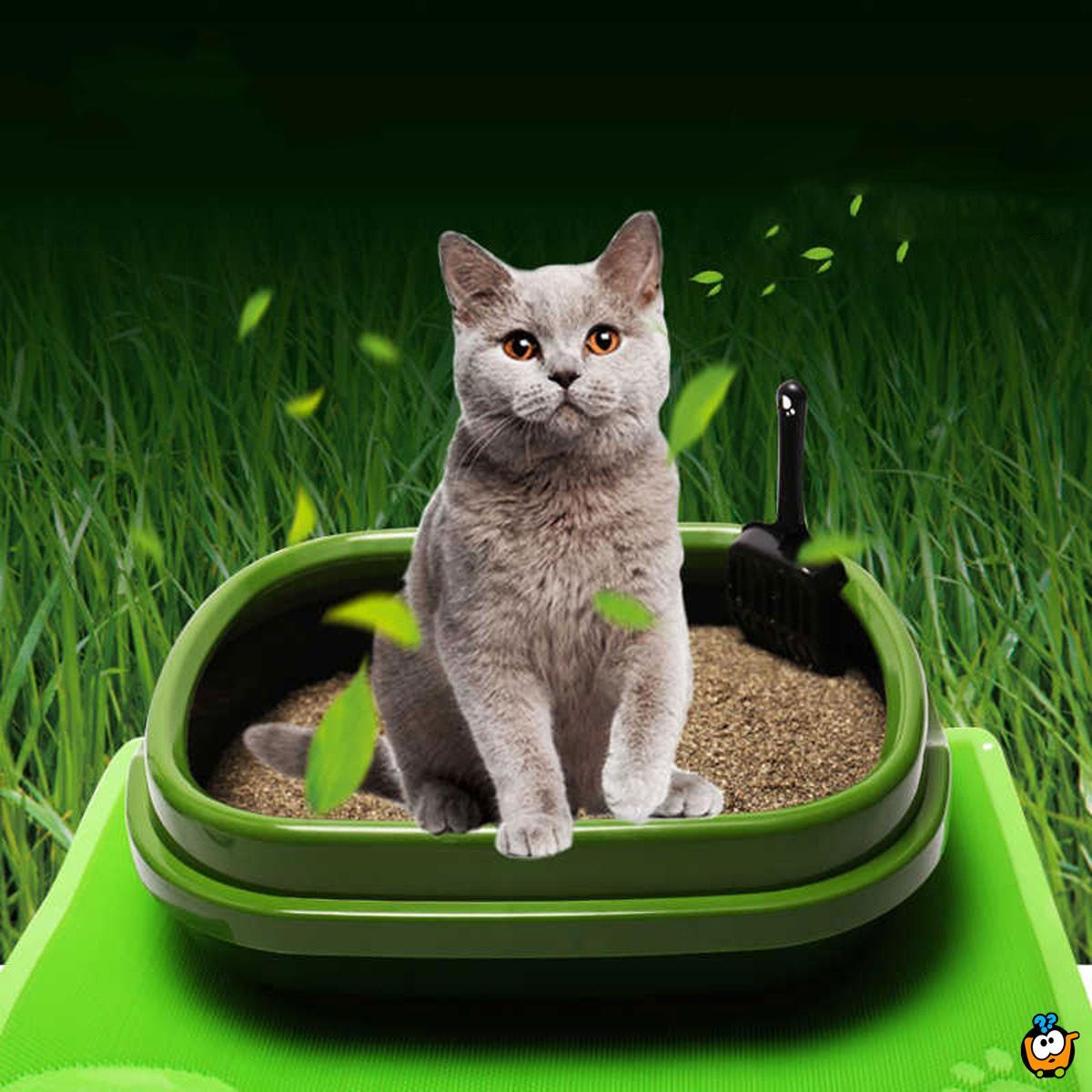 Toalet za mace - Posuda za pesak sa lopaticom 48x40x14