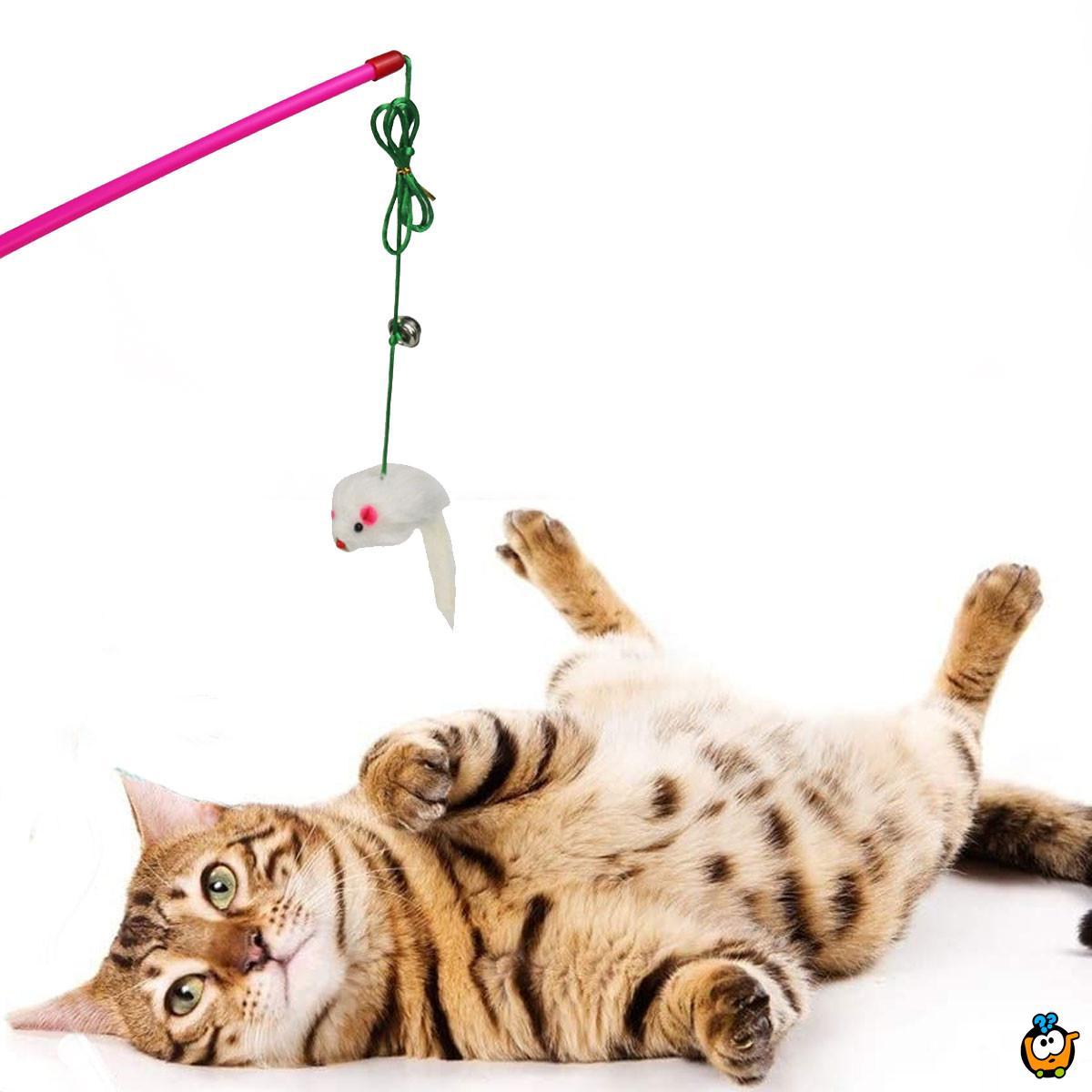 Igračka za mace – upecaj miša