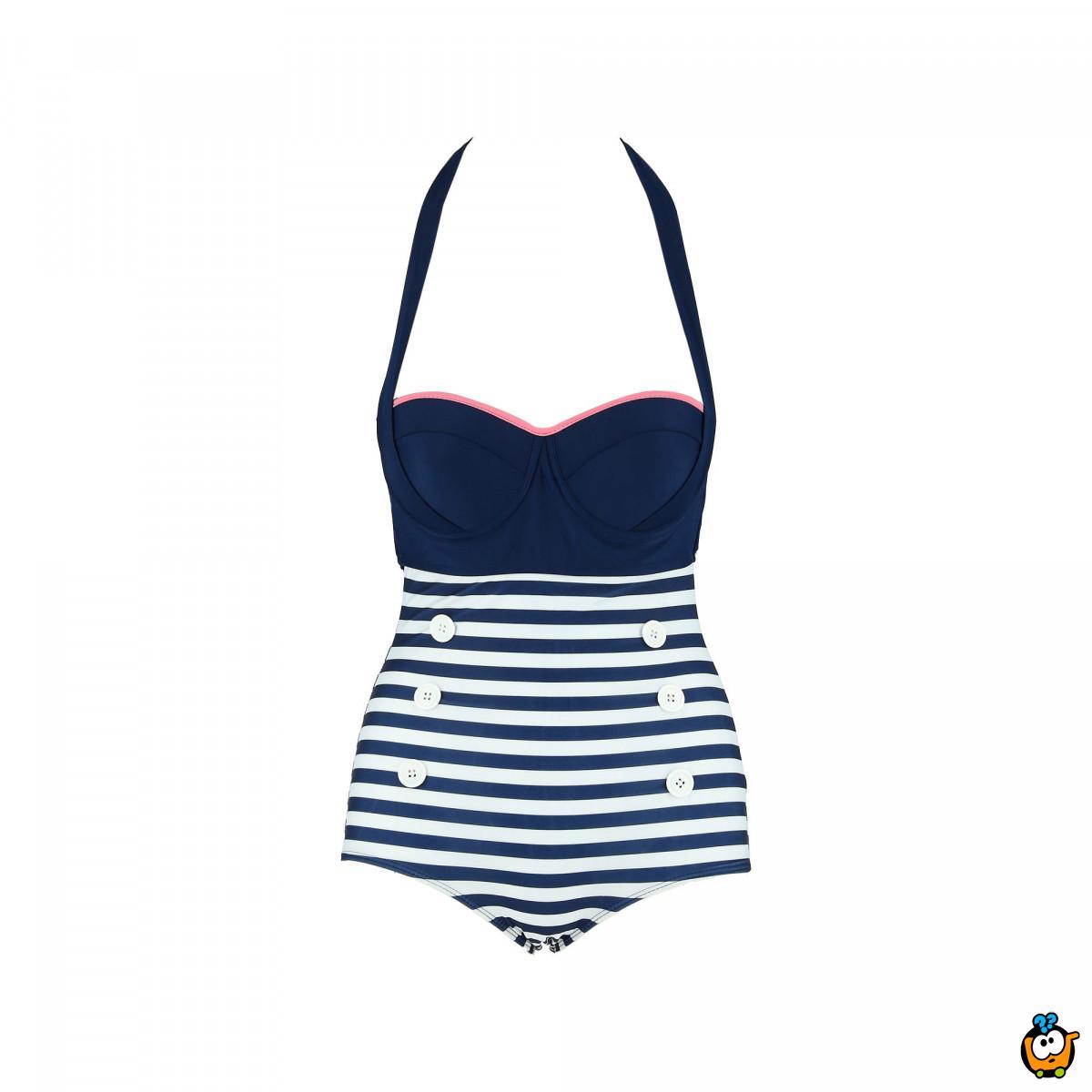Jednodelni ženski kupaći kostim - MONA BLUE