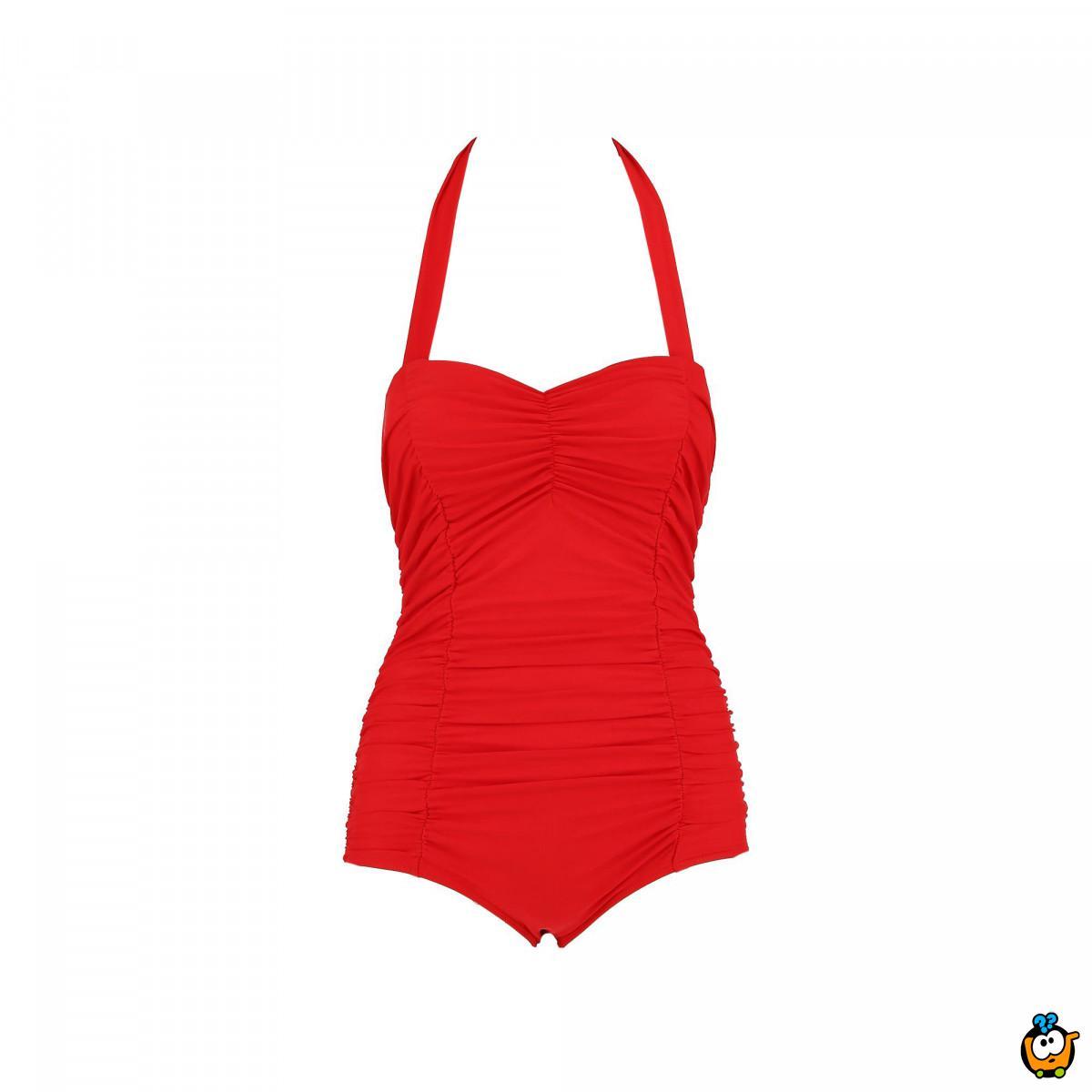 Jednodelni ženski kupaći kostim- REGULAR RED