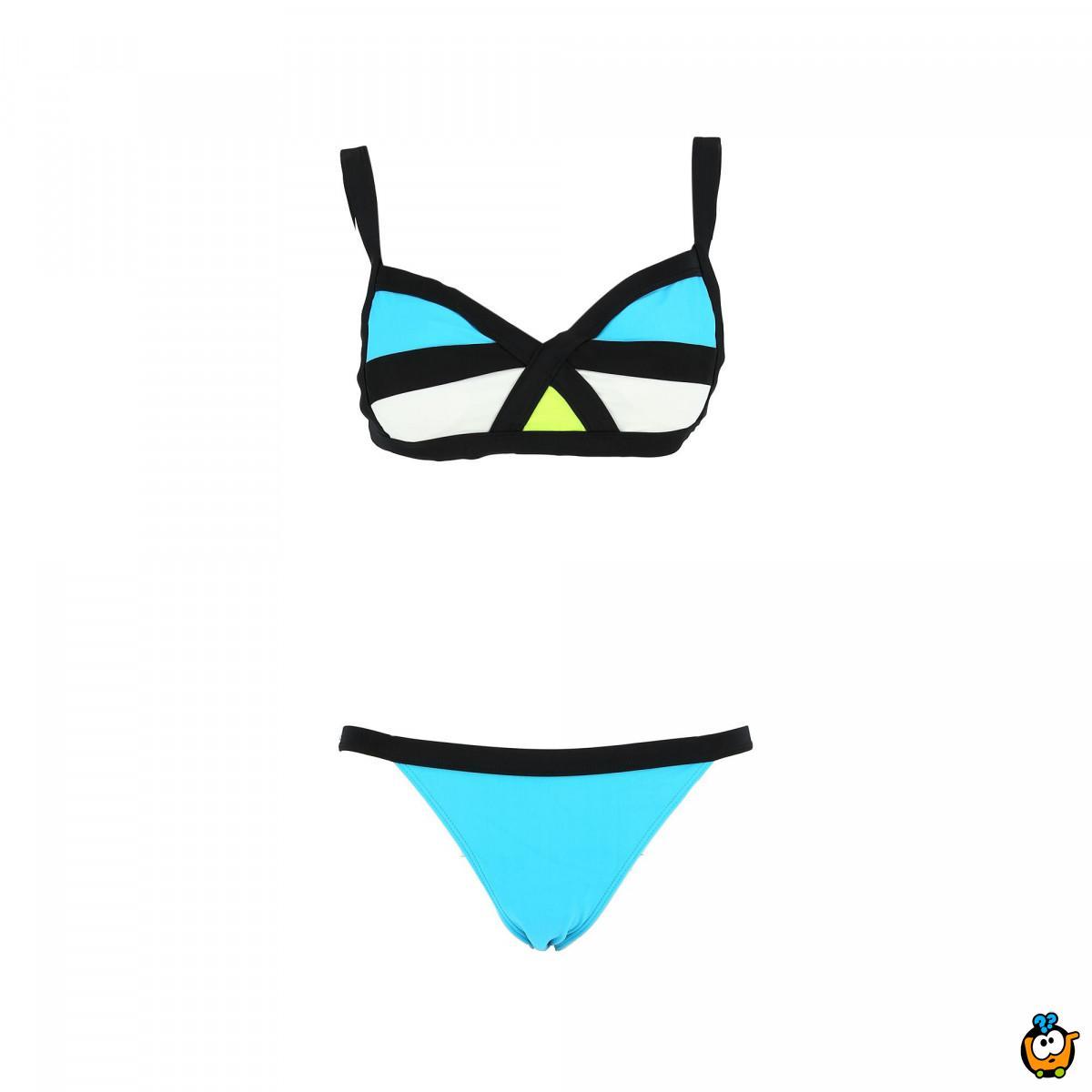 Dvodelni ženski kupaći kostim - MODERN MIX BLUE