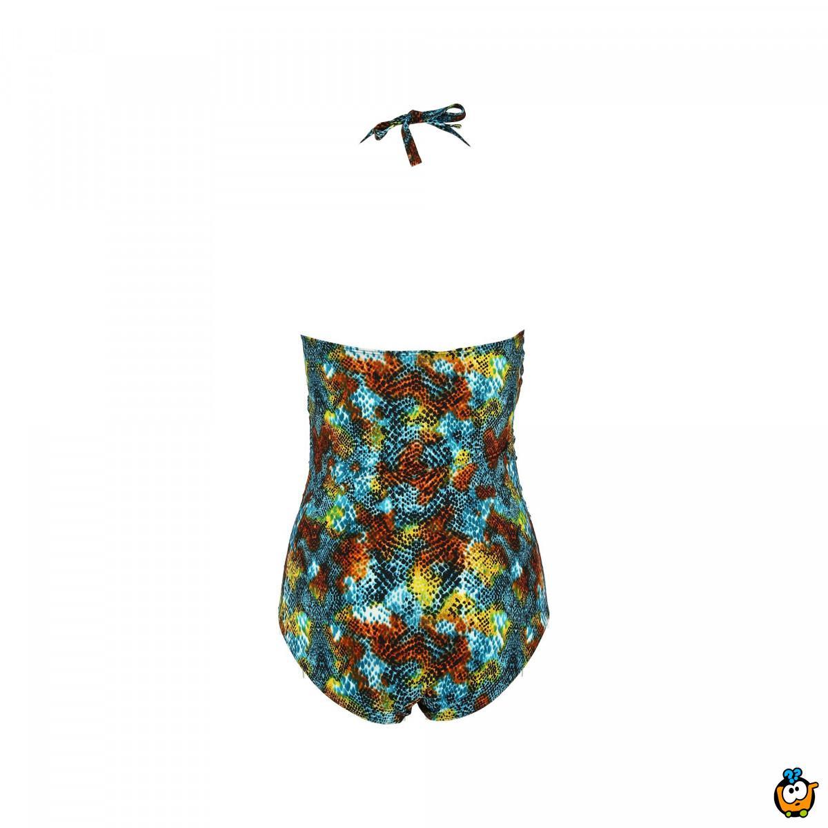 Jednodelni ženski kupaći kostim - PLUS SIZE - ENY SNAKE SKIN