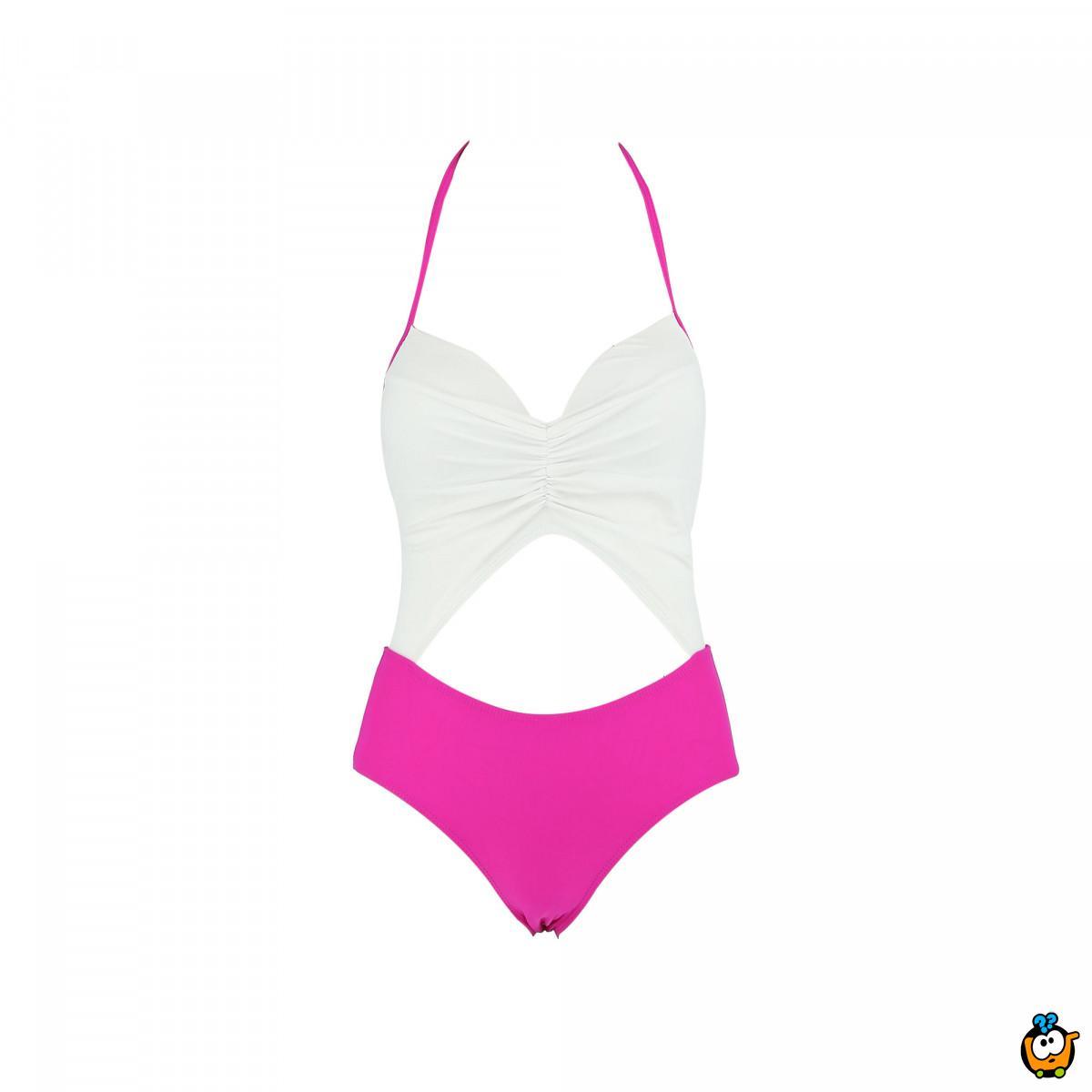 Jednodelni ženski kupaći kostim - RETRO LONG