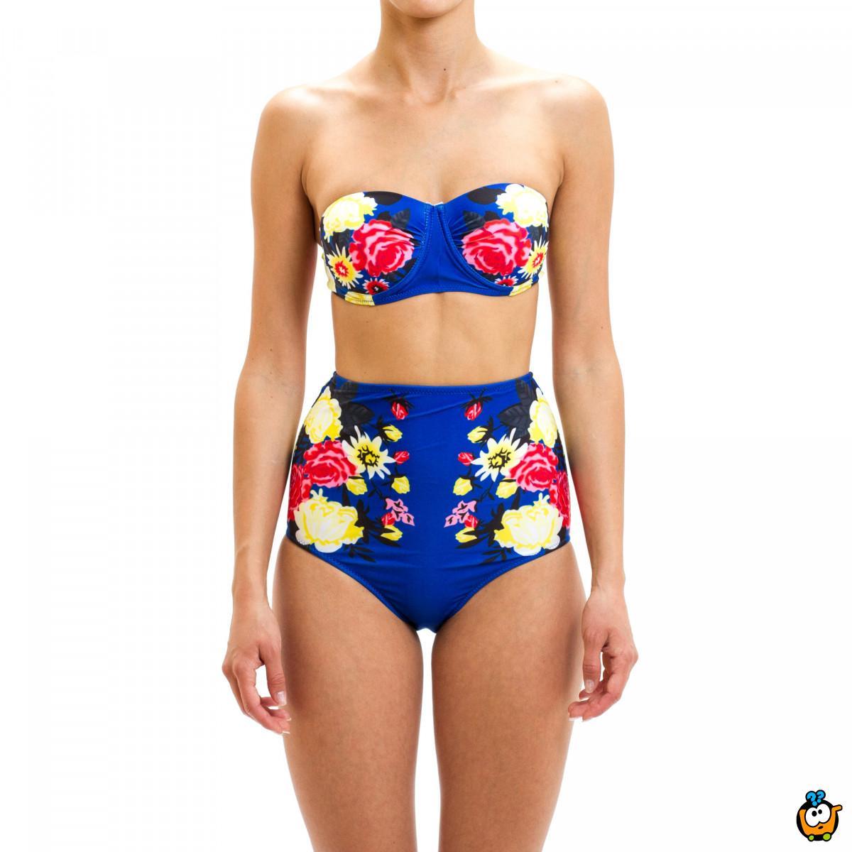 Dvodelni ženski kupaći kostim - RETRO FLOW BRILLIANT BLUE