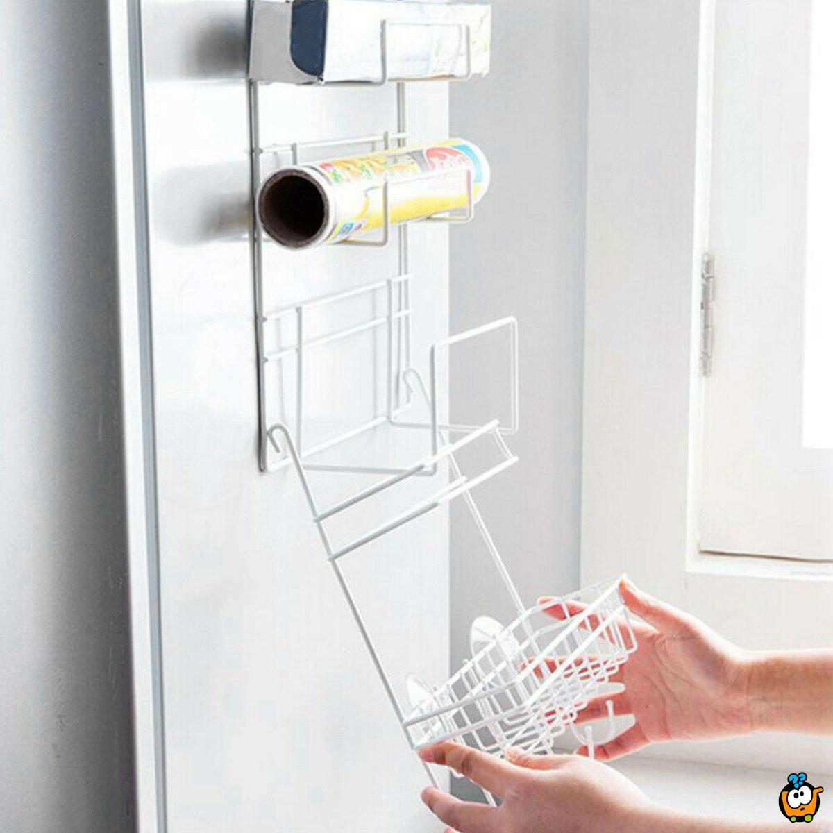 Frudge Side Shelf – 6u1 vakum držac sa kukicama koji se montira na frižider