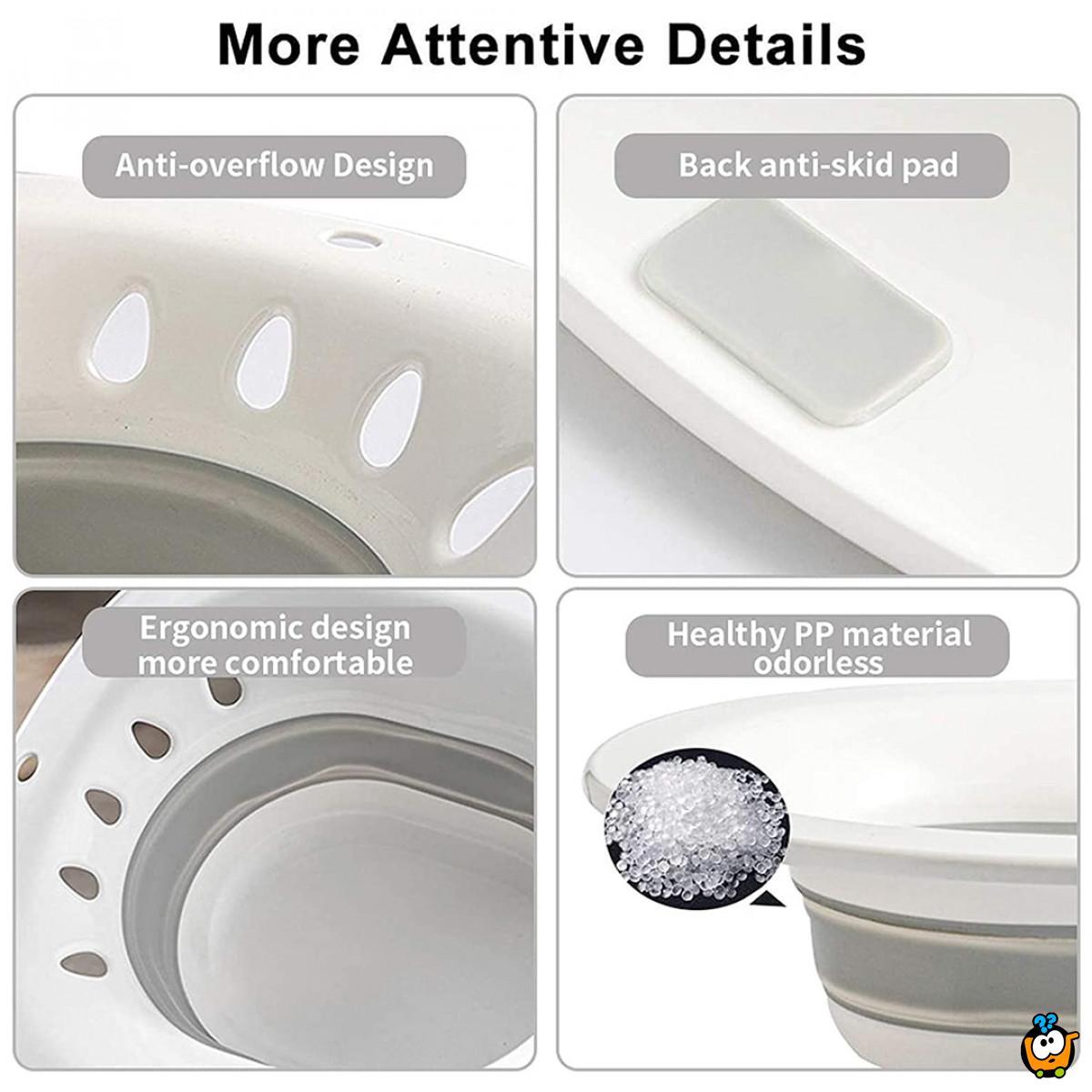 Sklopivi dodatak za wc šolju za održavanje higijene