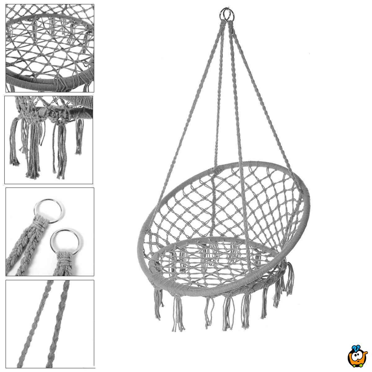 Viseća udobna mrežasta ljuljaška od  pamuka