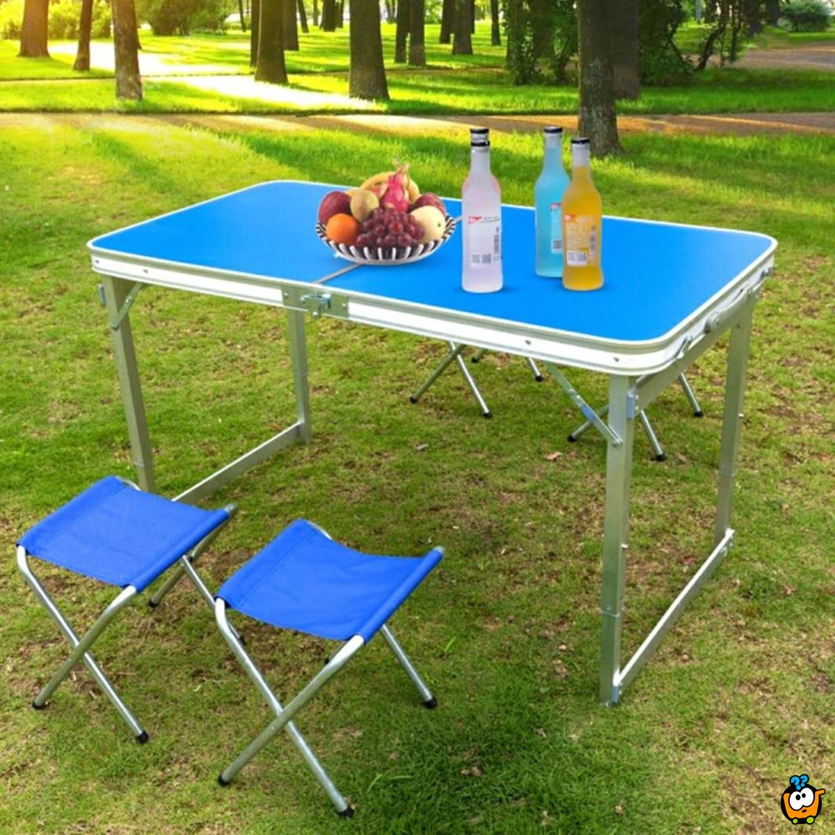 Sklopivi set-sto i 4 stolice
