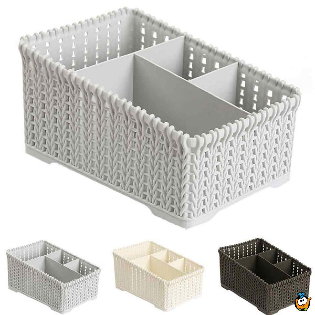 Kutija za skladištenje stvari sa 4 pregrade