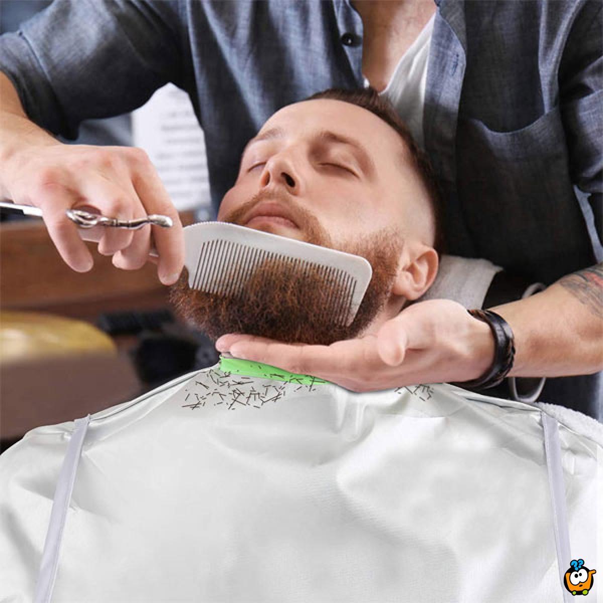 Haircut cover - Praktični ogrtač i skupljač kose tokom šišanja