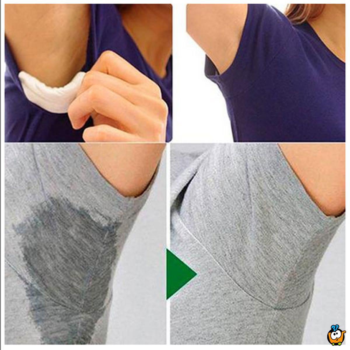 Udobni jastučići za zaštitu od znojenja ispod pazuha