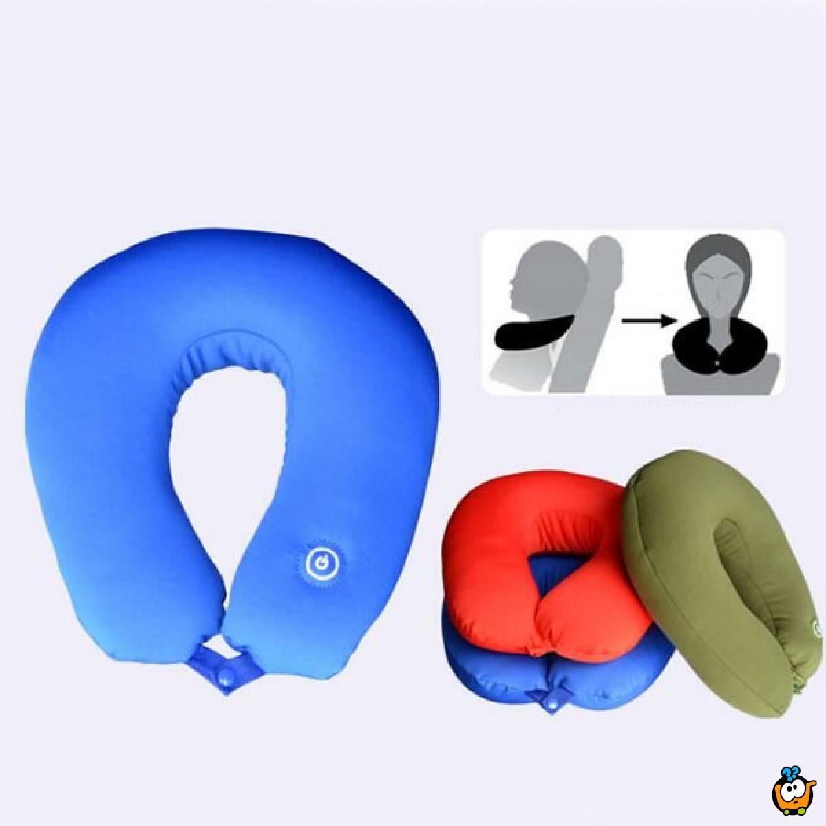 Vibracioni jastuk za vrat - za relaksaciju ili udobno putovanje