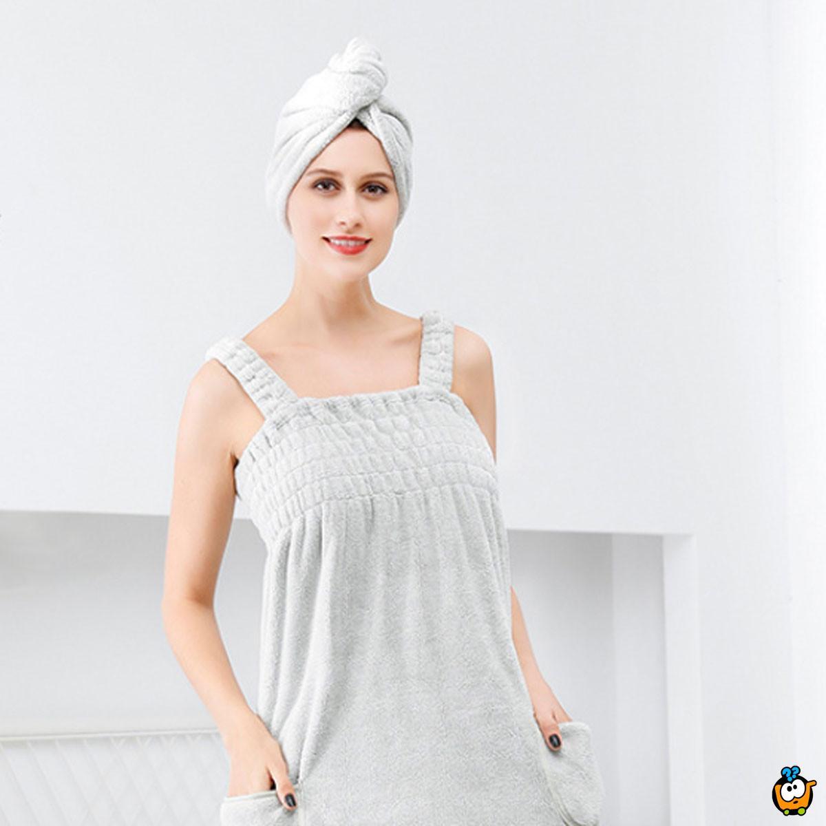 Super upijajuća peškir haljina na bretele