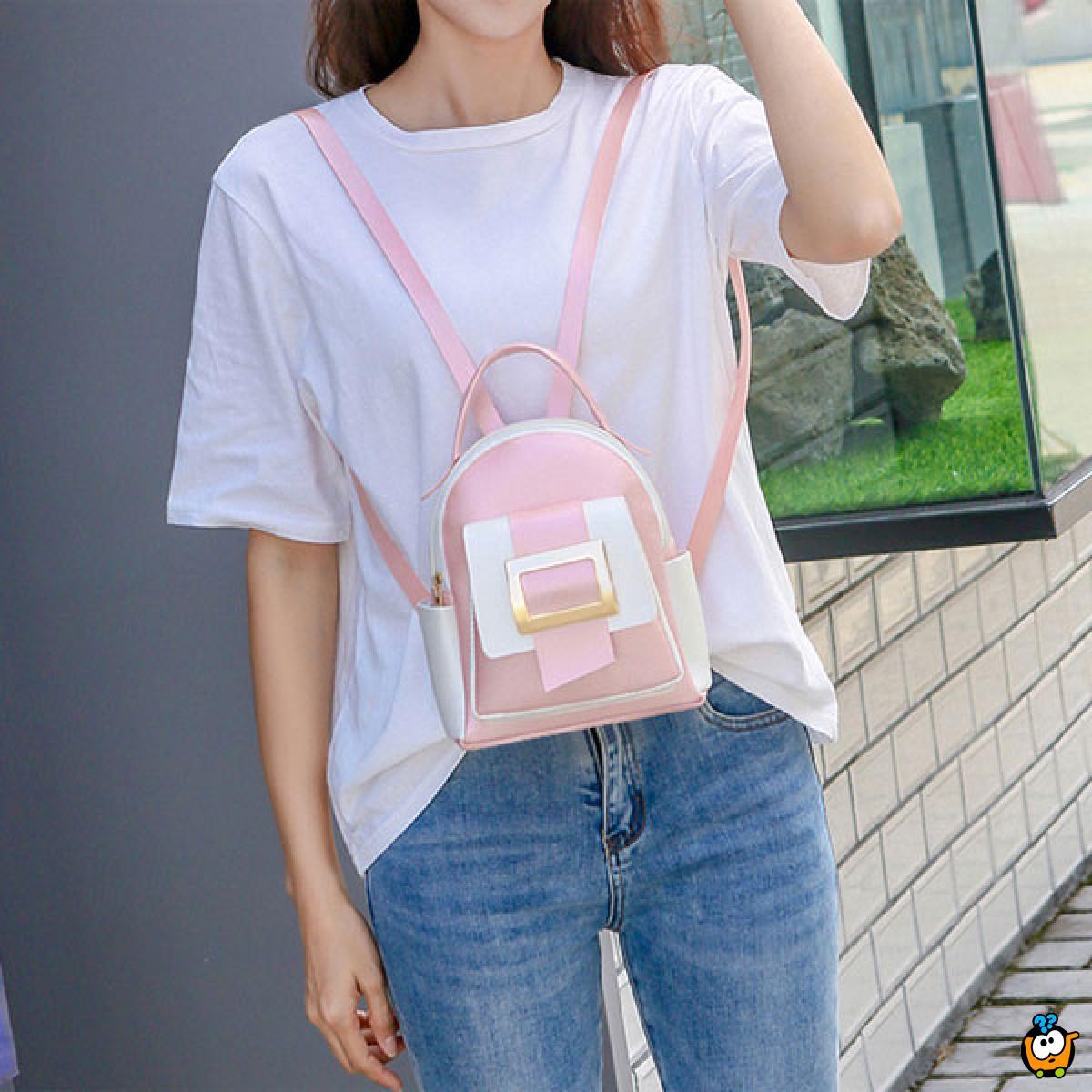 Fashion backpack - modni ženski ranac