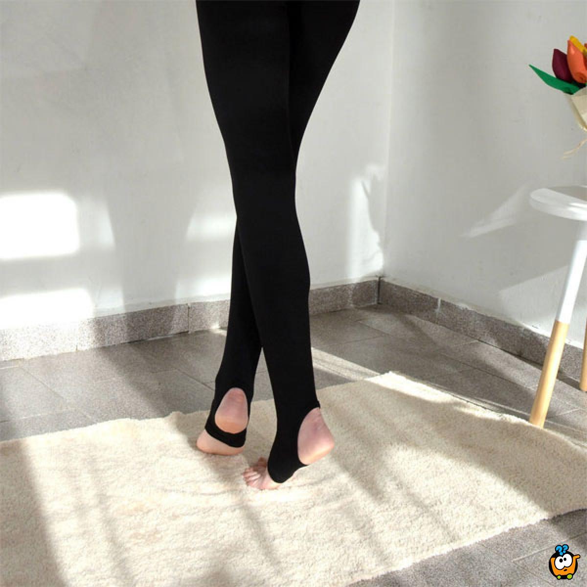 Univerzalne crne unihop čarape bez stopala