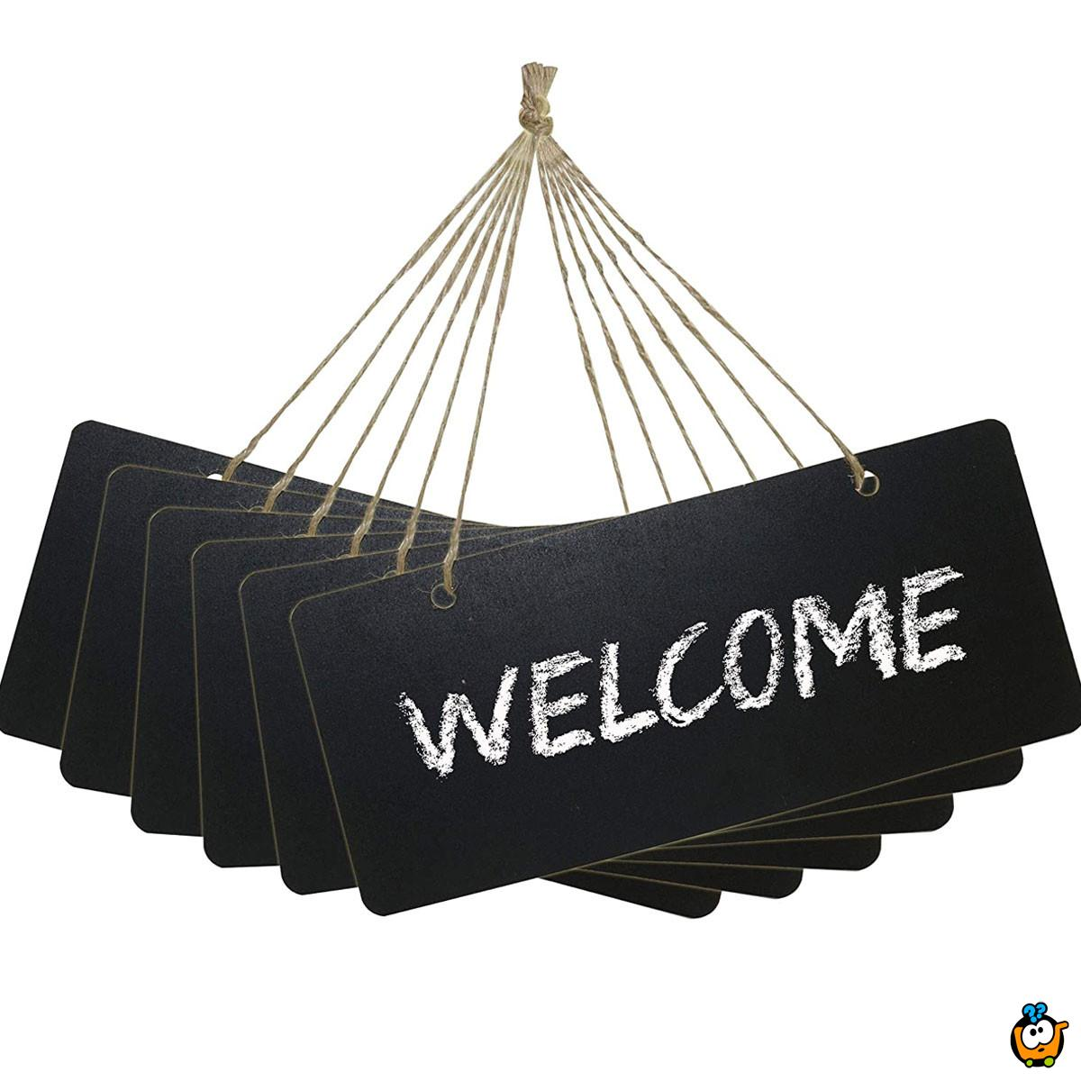 Message Board - viseća crna tabla za pisanje kredom