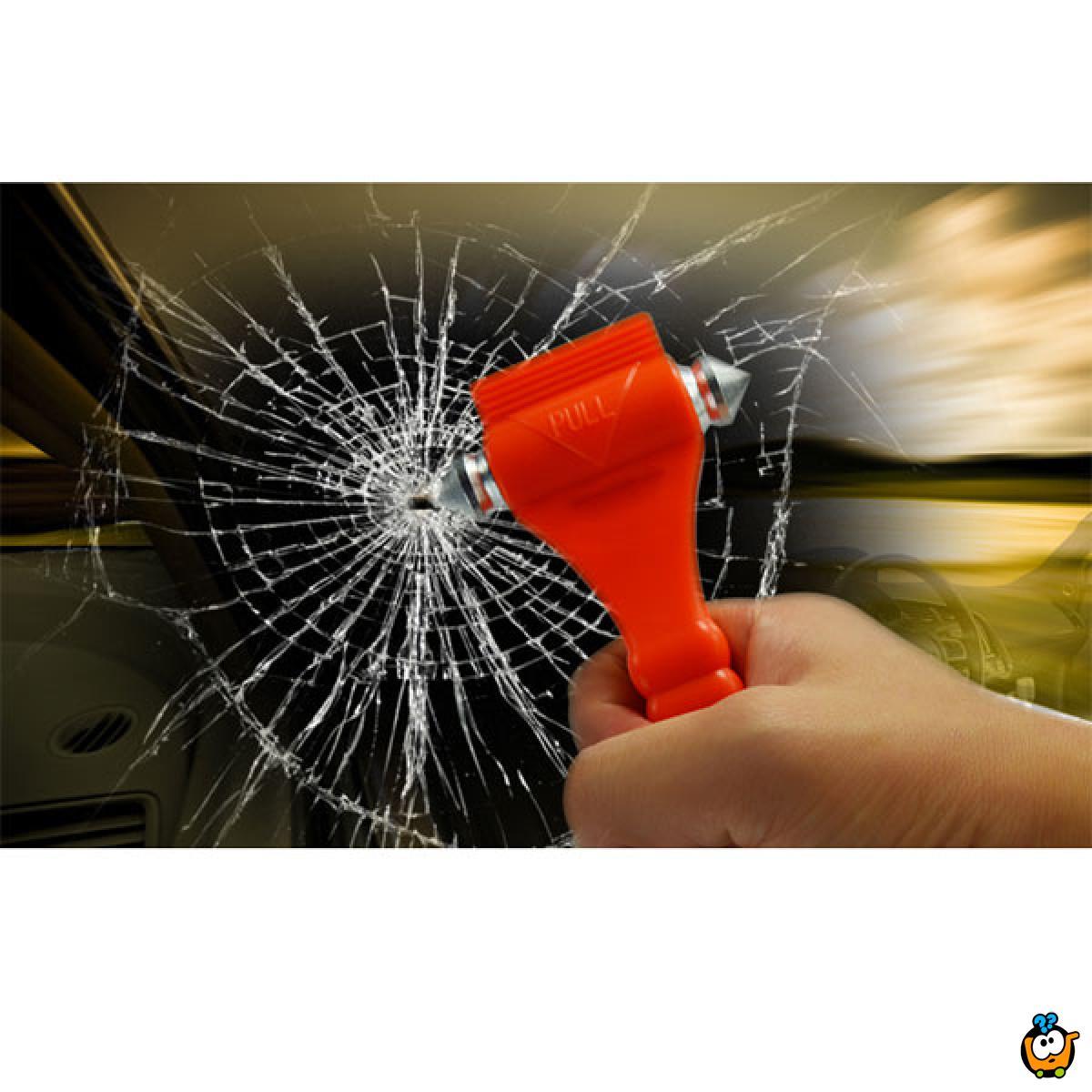 Emergency Hammer - SOS čekić za razbijanje stakla