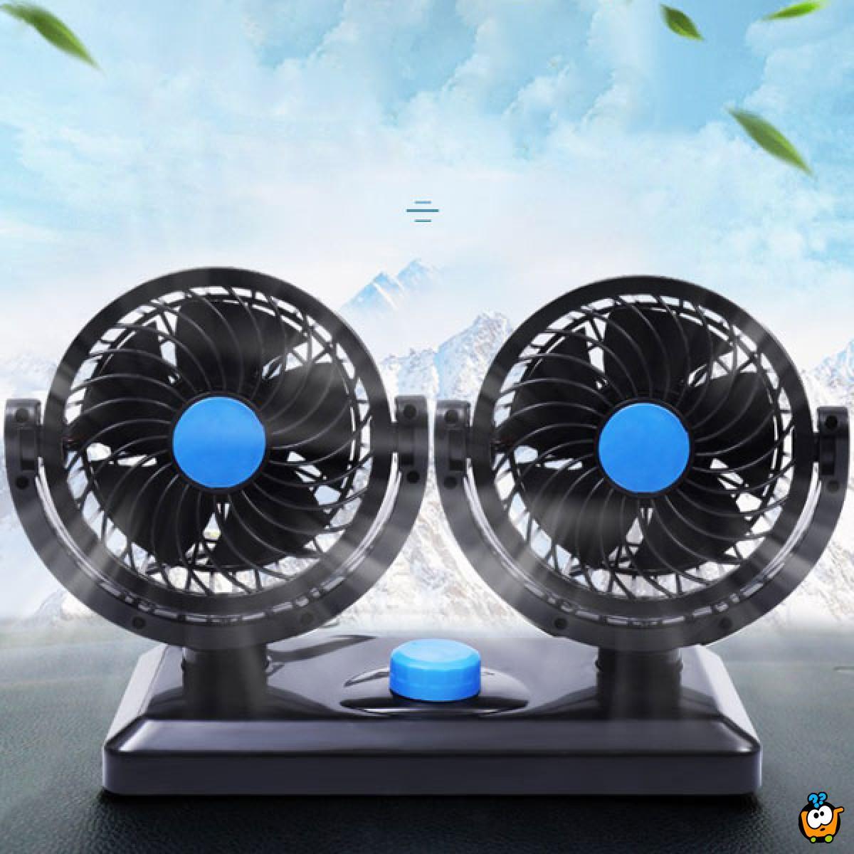 Dvostruki ventilator za automatsko rashlađivanje automobila
