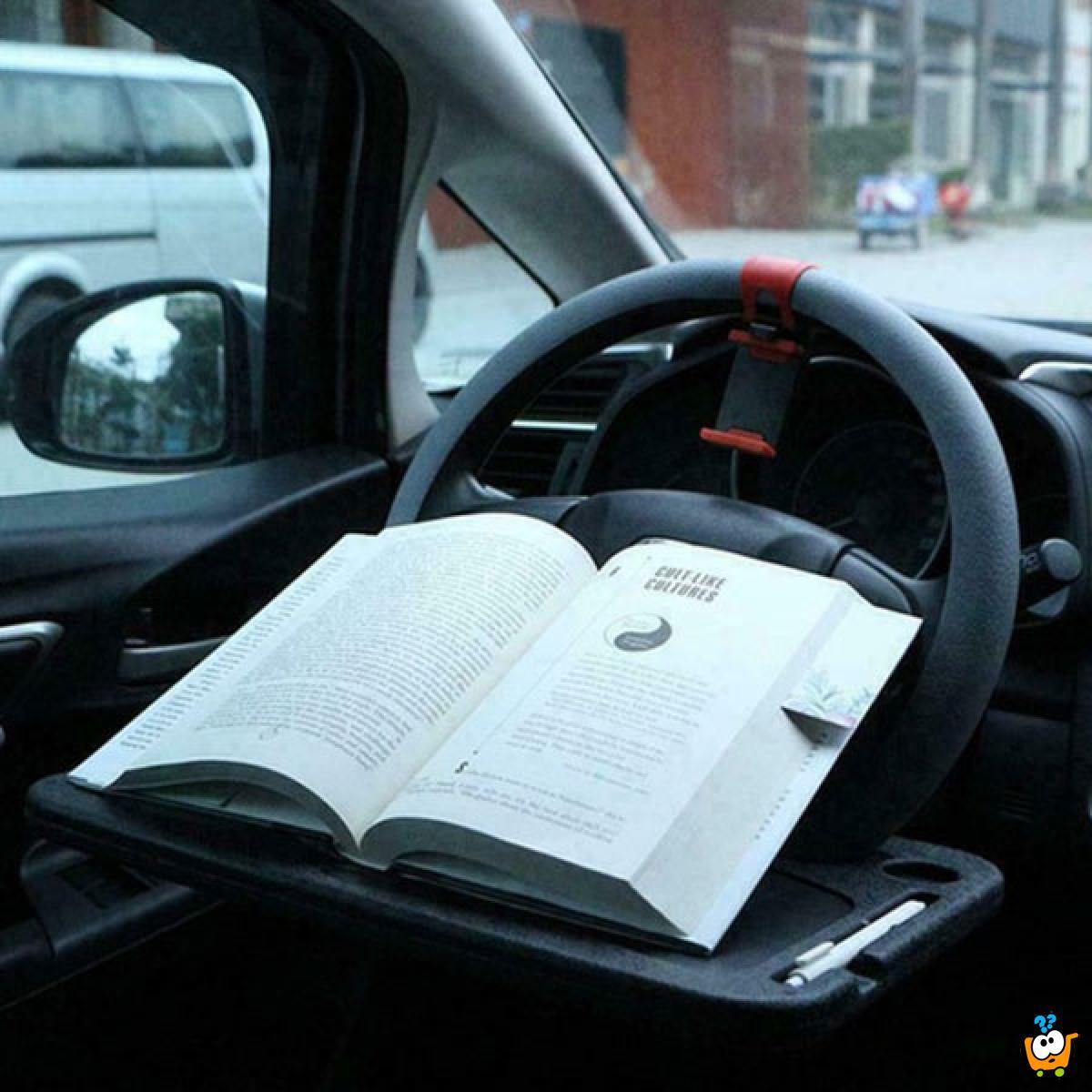 Višenamenski stočić za upravljač automobila