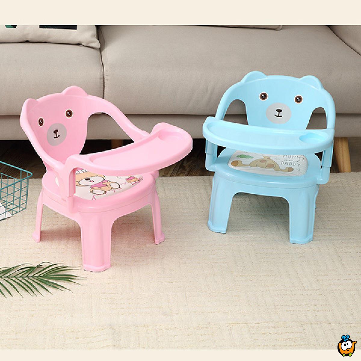 Bebi stolica sa poslužavnikom - za jelo i igru