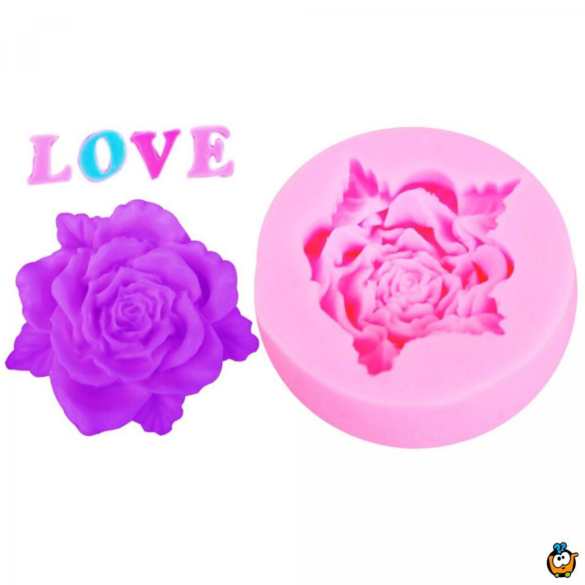 Molde de Rosa - Silikonski kalup za pravljenje ruža