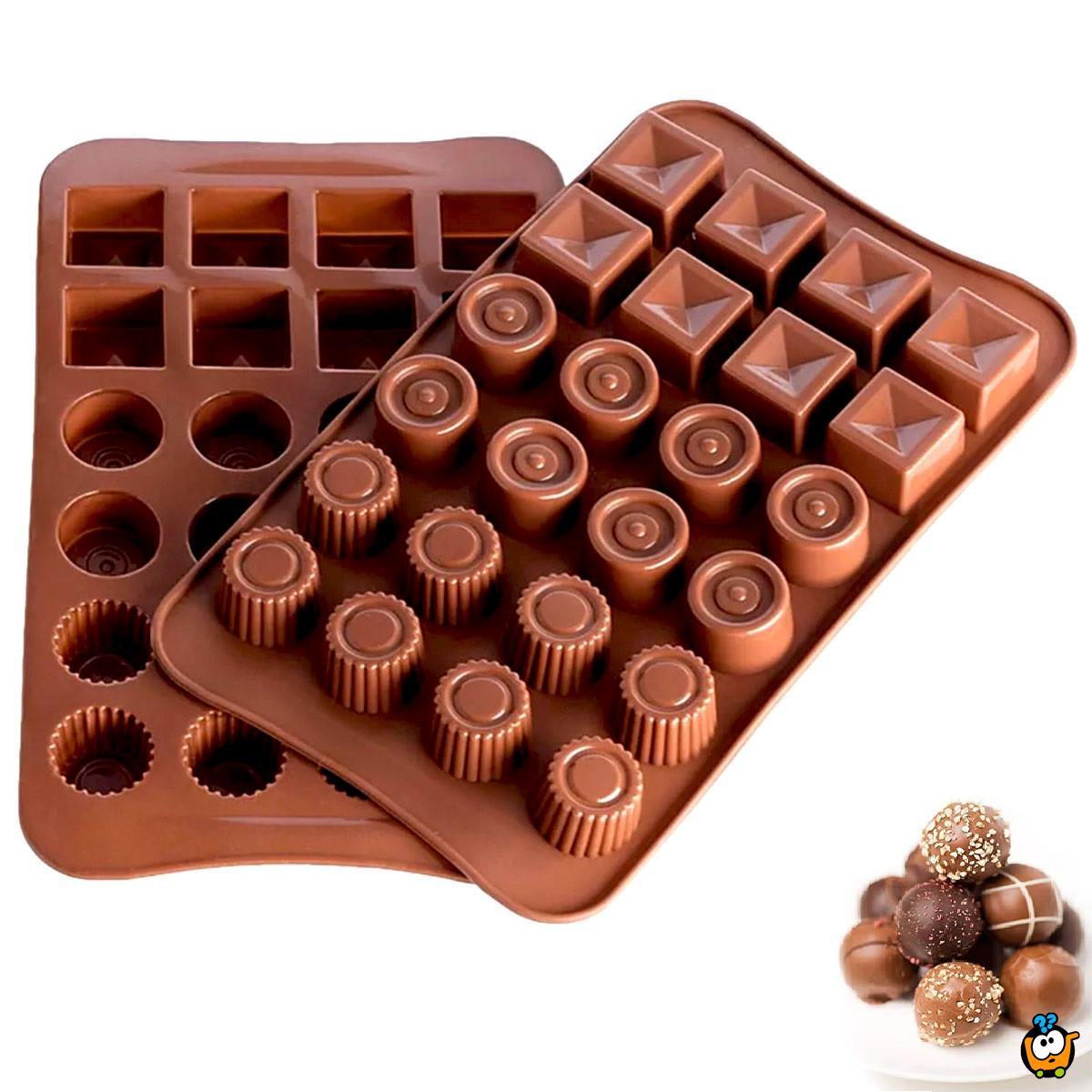 3D Chocolate Bombons - Silikonski kalup za pravljenje bombonjera