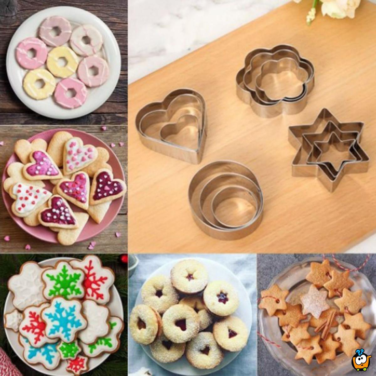 Set modli za kolače od nerđajućeg čelika
