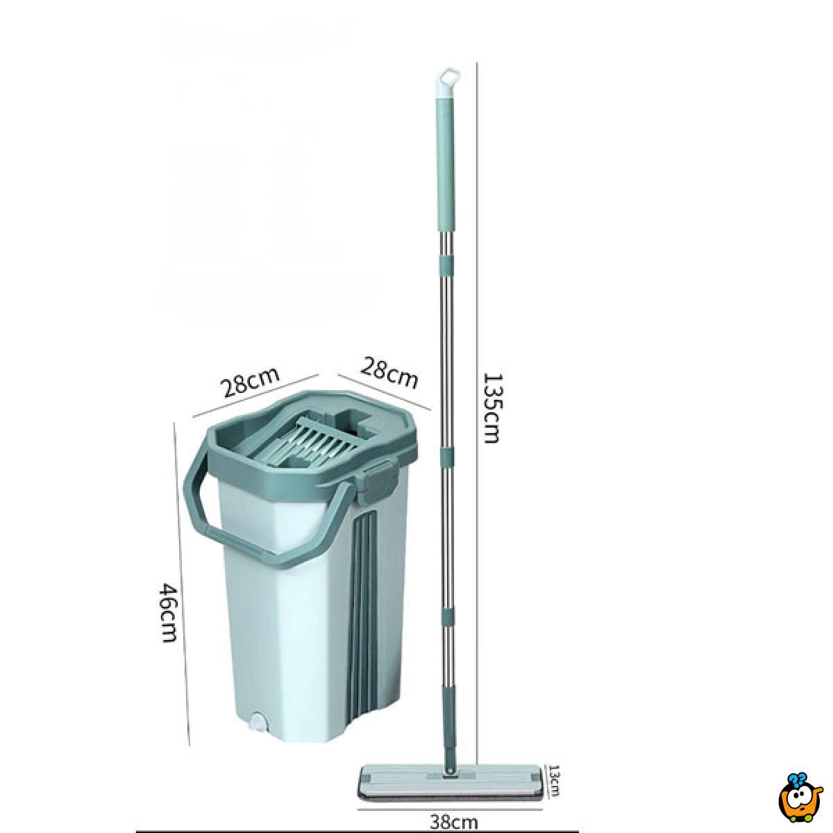 Flat Mop - Kofa sa mehanizmom za ceđenje