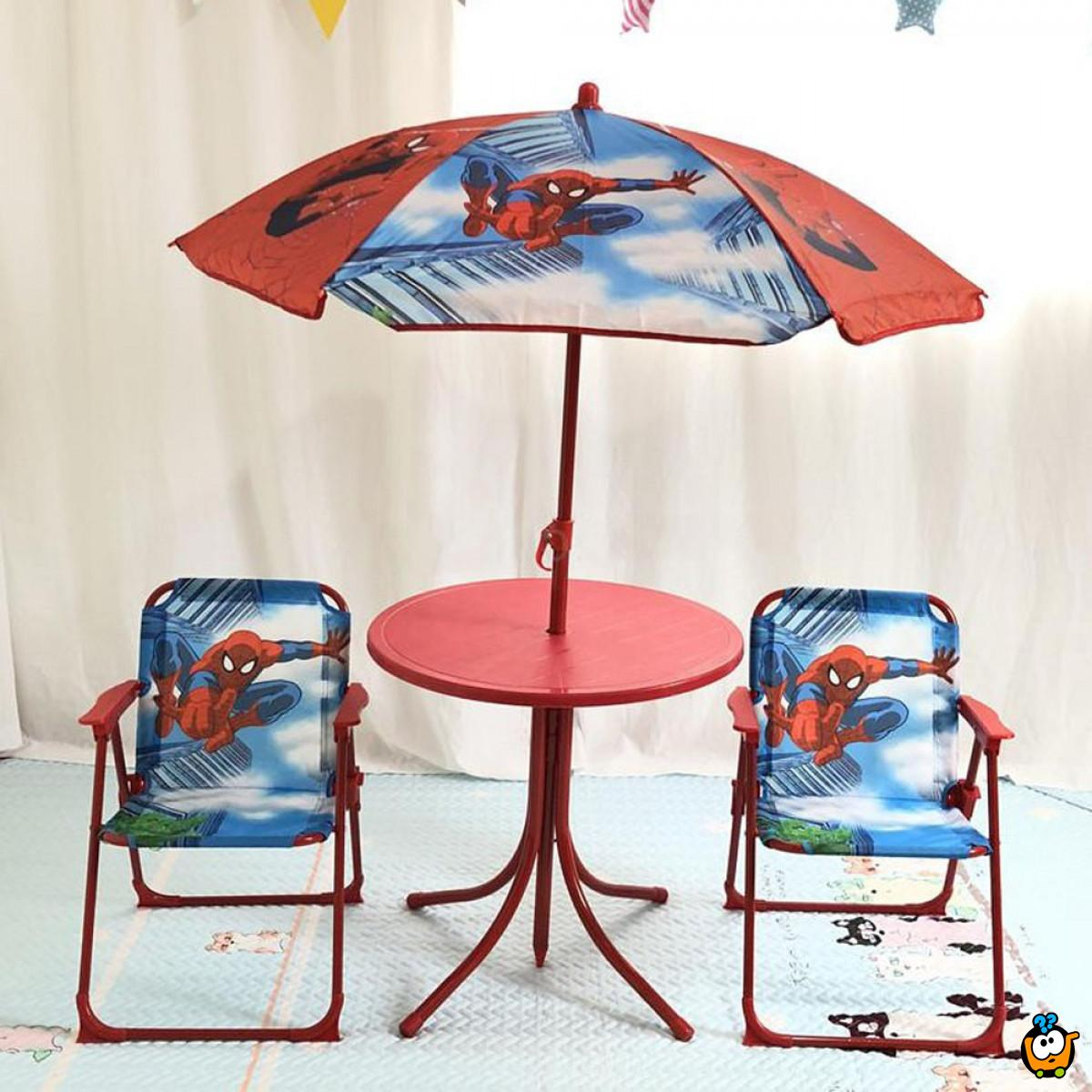 Komplet garnitura za dečake sa suncobranom - SPIDERMAN