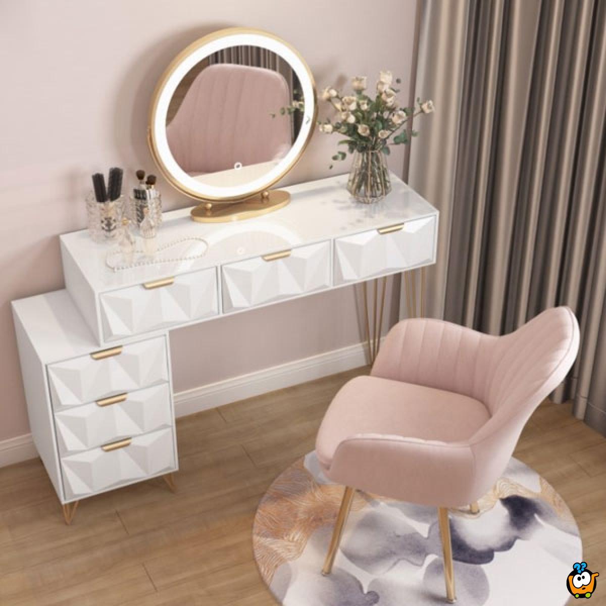 CHARLOTTE – Elegantna mebl štof stolica sa jastučetom