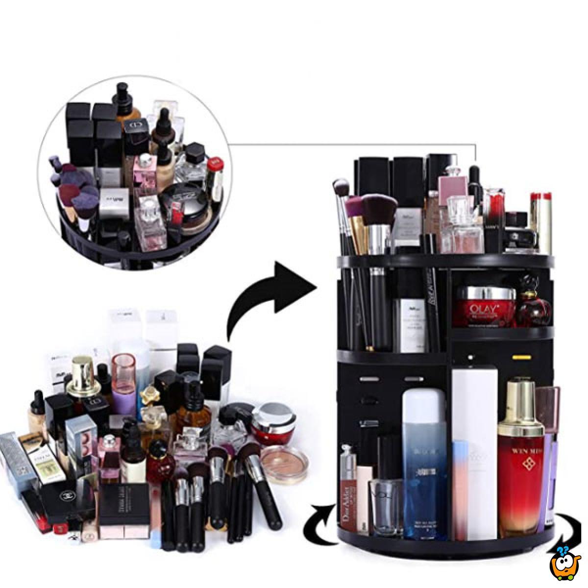 Multifunkcionalni rotirajući makeup organizer 360