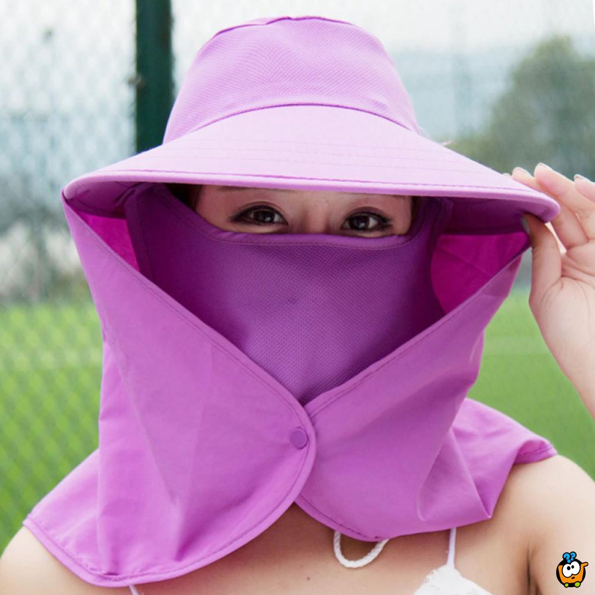 Ženski dvoslojni šešir za potpunu zaštitu od sunca