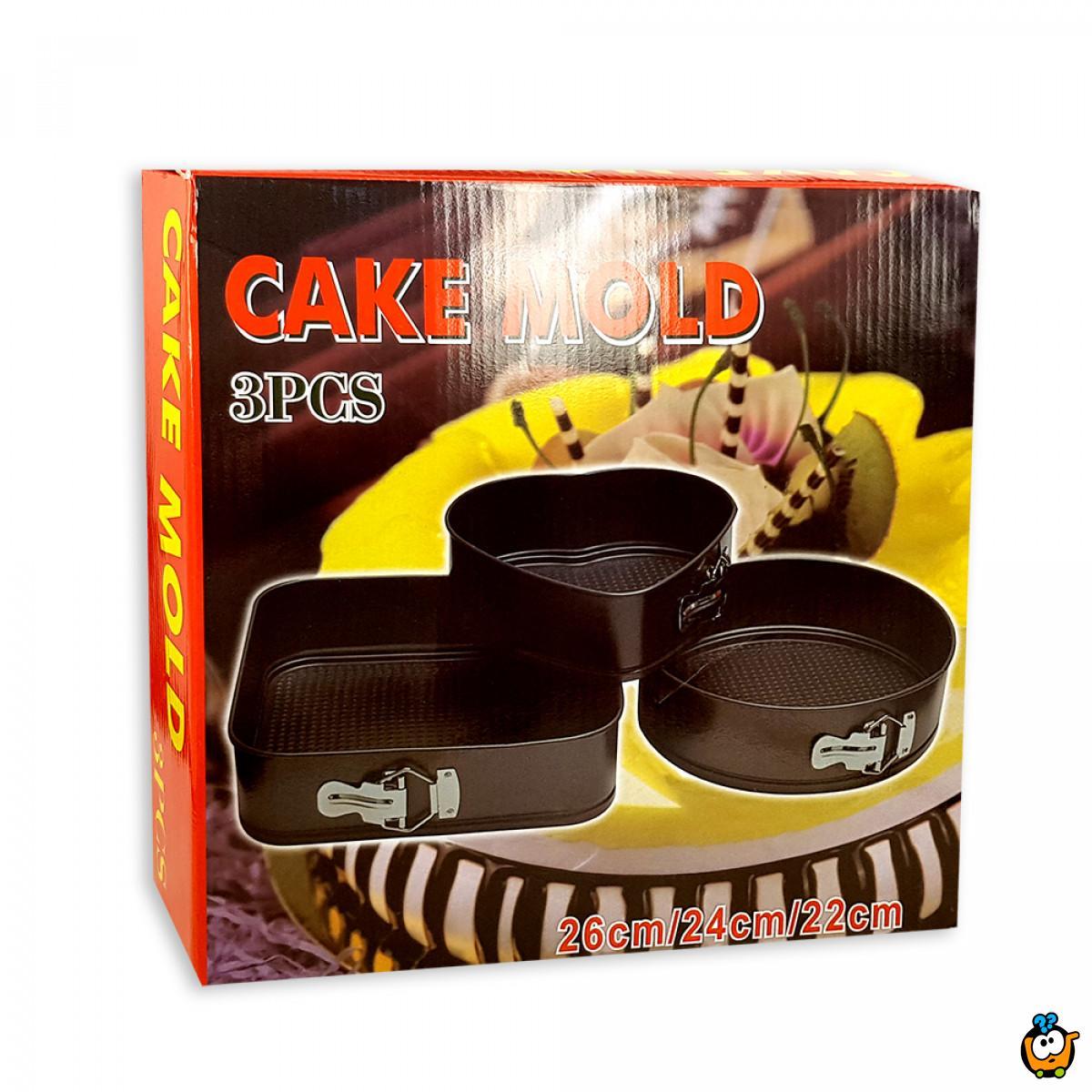 Set od 3 različita SPRINGFORM kalupa za kolače i torte